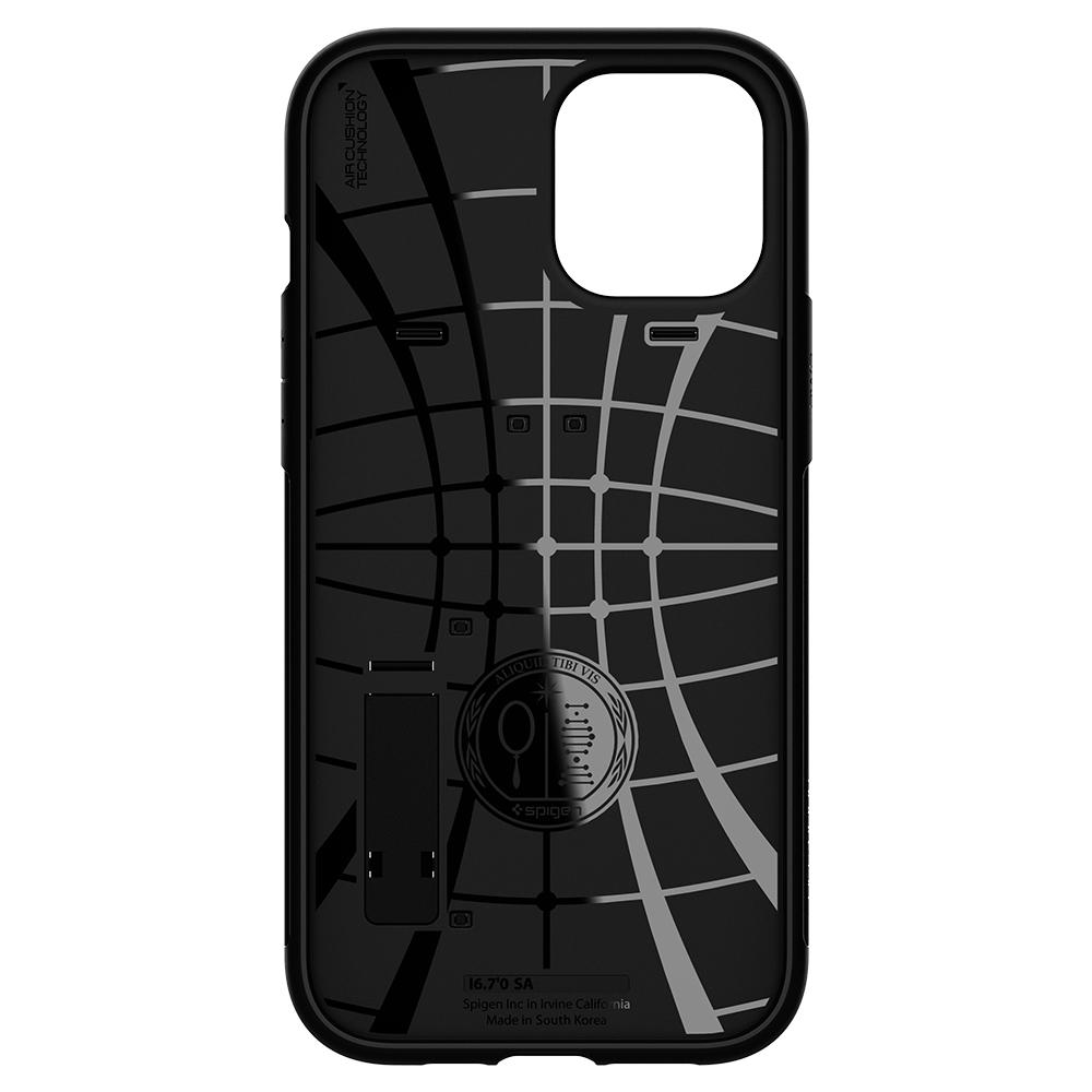 iPhone 12 Pro Max Case Slim Armor in black showing the inside