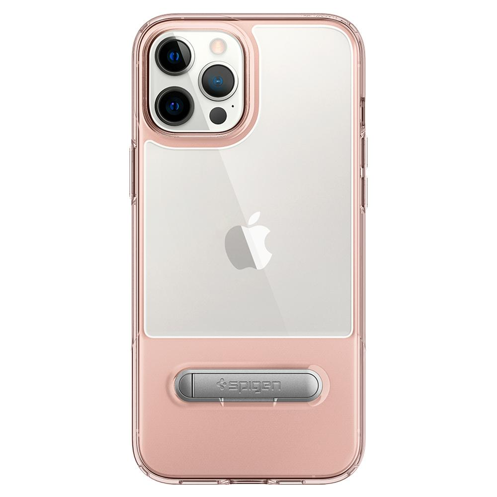iPhone 12 Pro Max Case Slim Armor Essential S in rose crystal showing the back with device