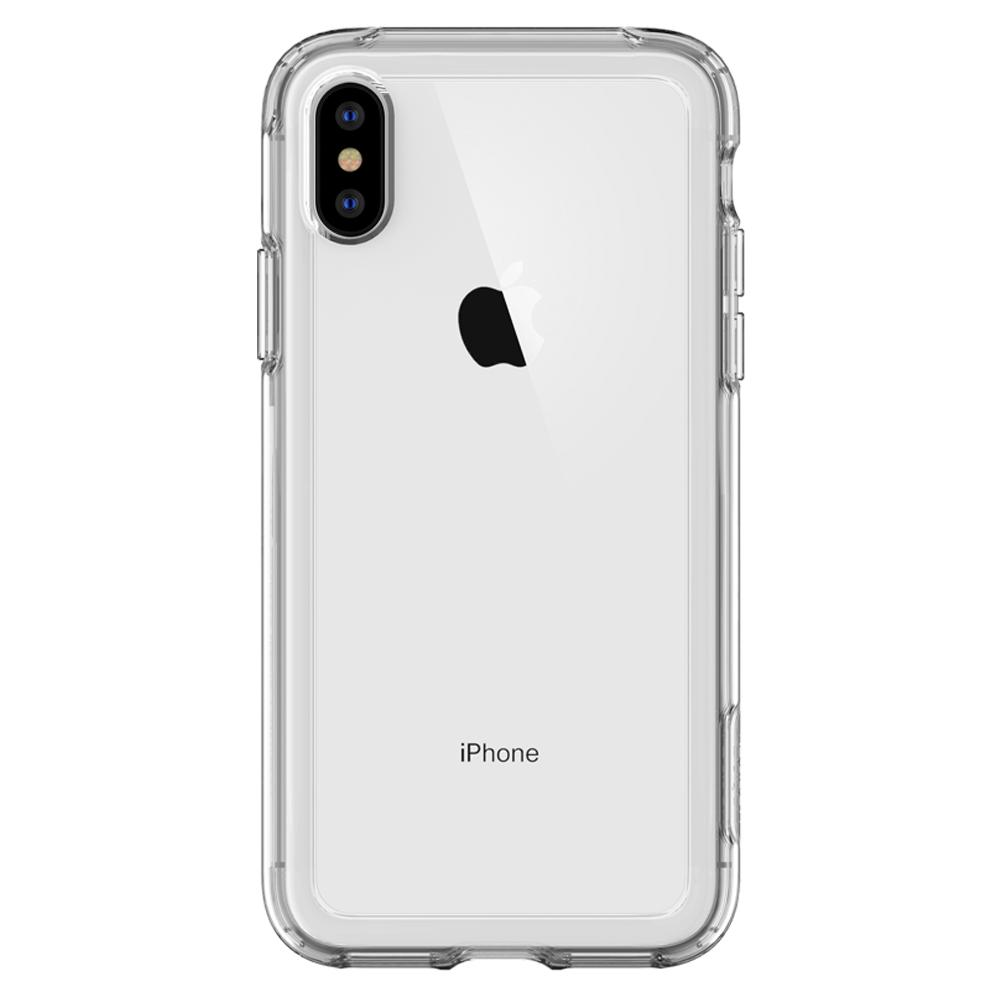 Slim Armor Crystal	Dark Crystal	Case	facing backwards showing the back design with the camera cutout on the	iPhone XS/X	device.