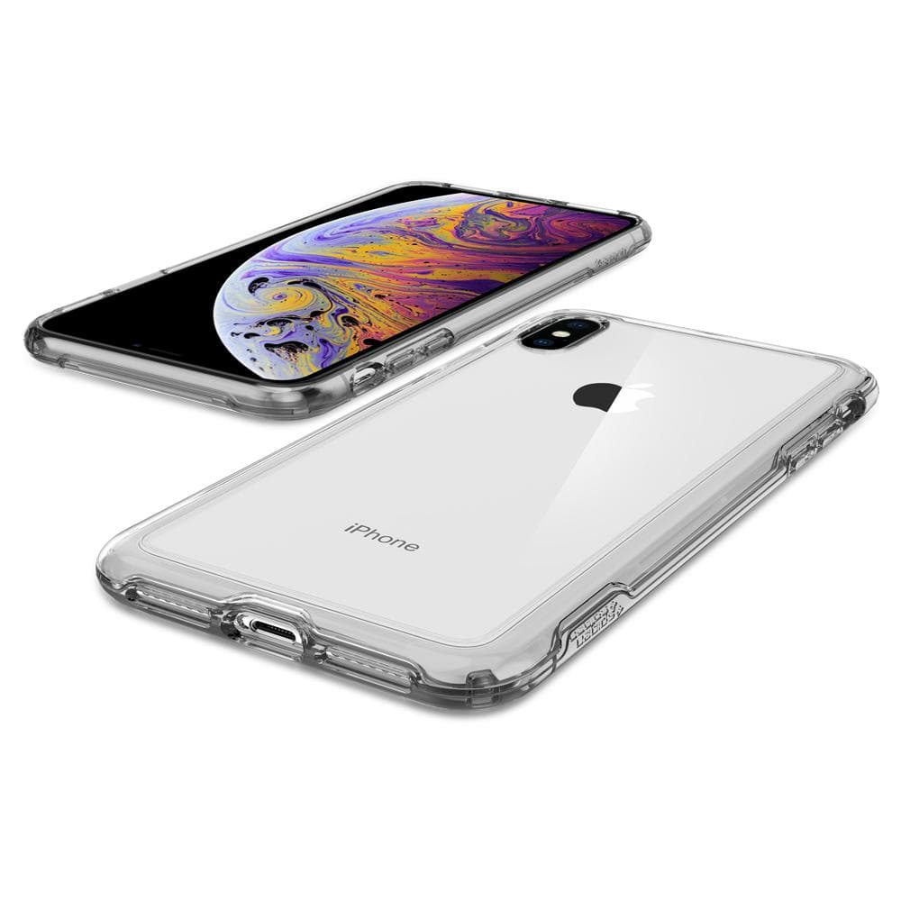 Slim Armor Crystal	Dark Crystal Case	back design and the front view of the	iPhone XS/X	device.