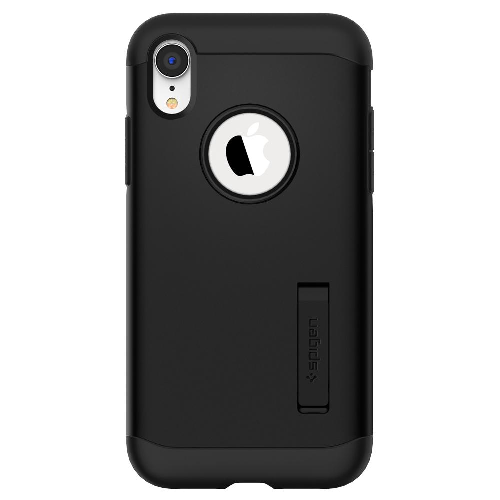Slim Armor	Black	Case	facing backwards showing the back design with the camera cutout on the	iPhone XR	device.