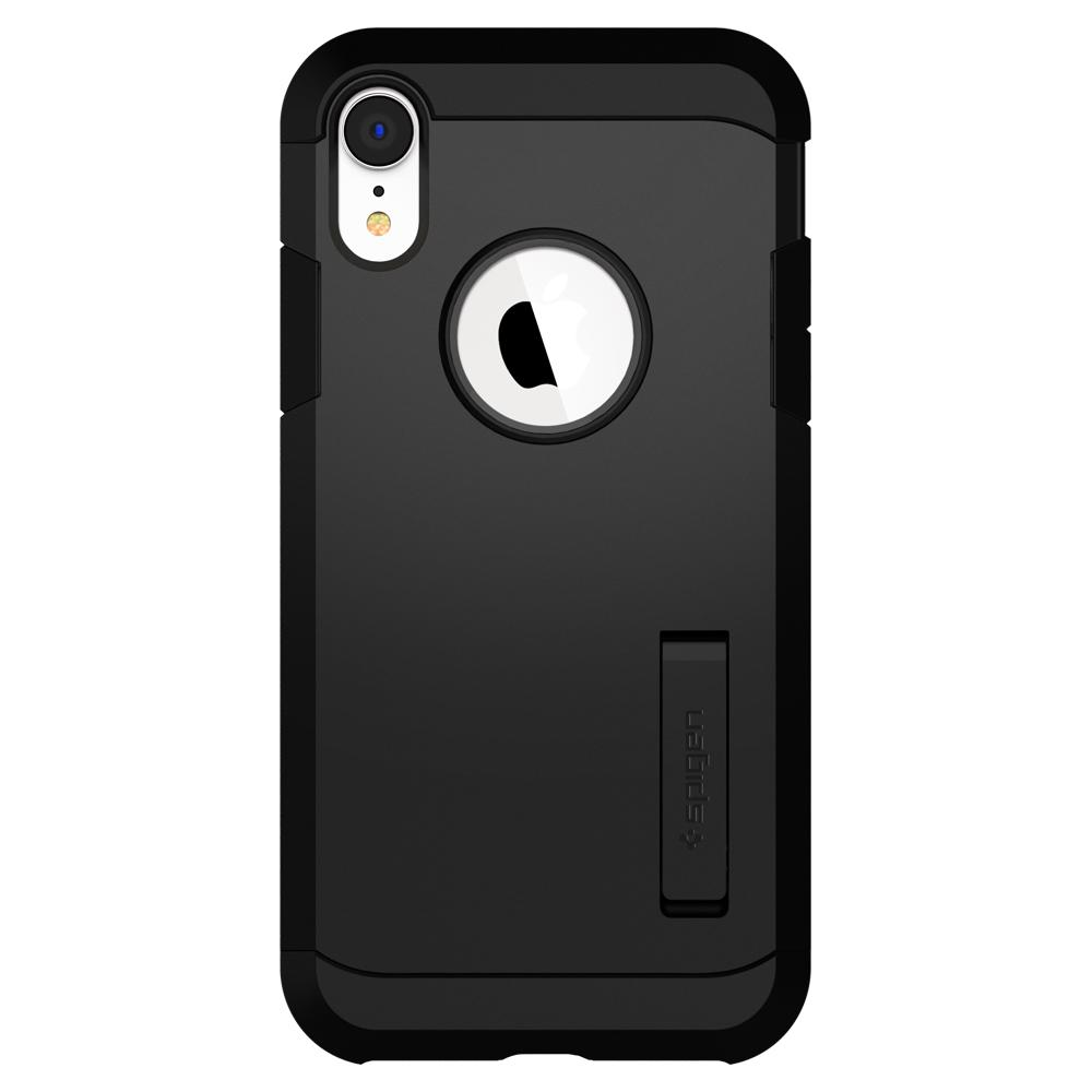 Tough Armor	Black	Case	facing backwards showing the back design with the camera cutout on the	iPhone XR	device.
