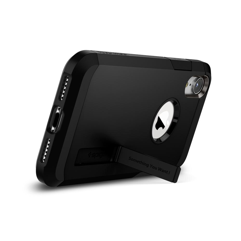 Tough Armor	Black	Case	angled backwards showing the back design focusing on the kickstand feature.	iPhone XR	device.