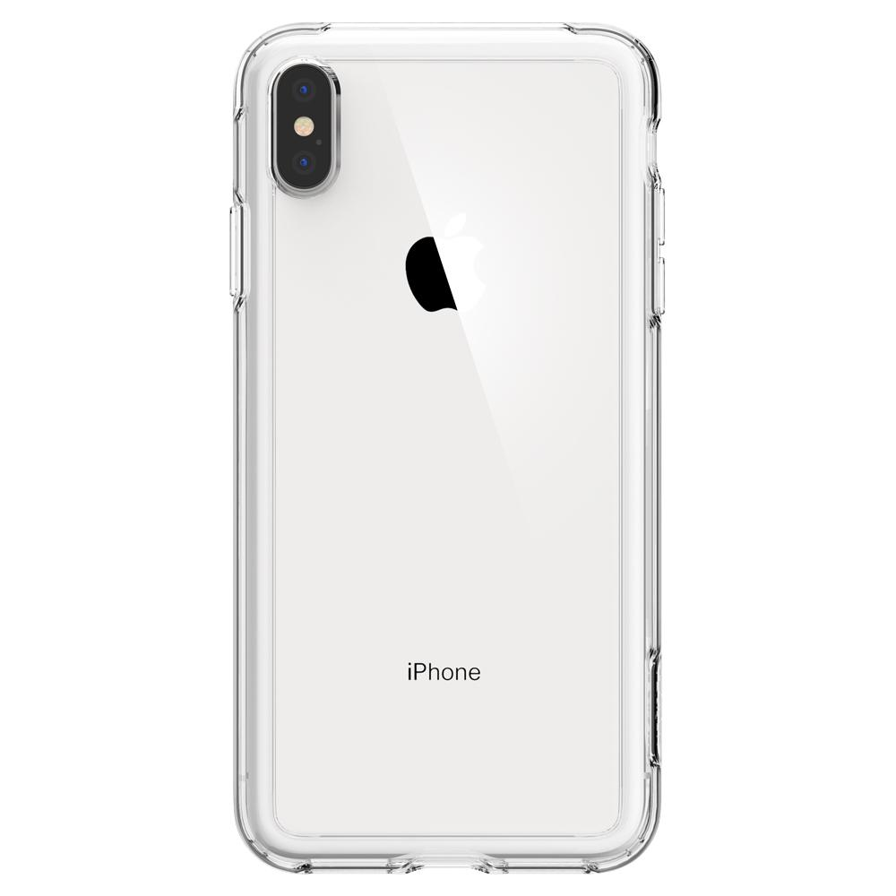 Slim Armor Crystal	Crystal Clear	Case	facing backwards showing the back design with the camera cutout on the	iPhone XS Max	device.