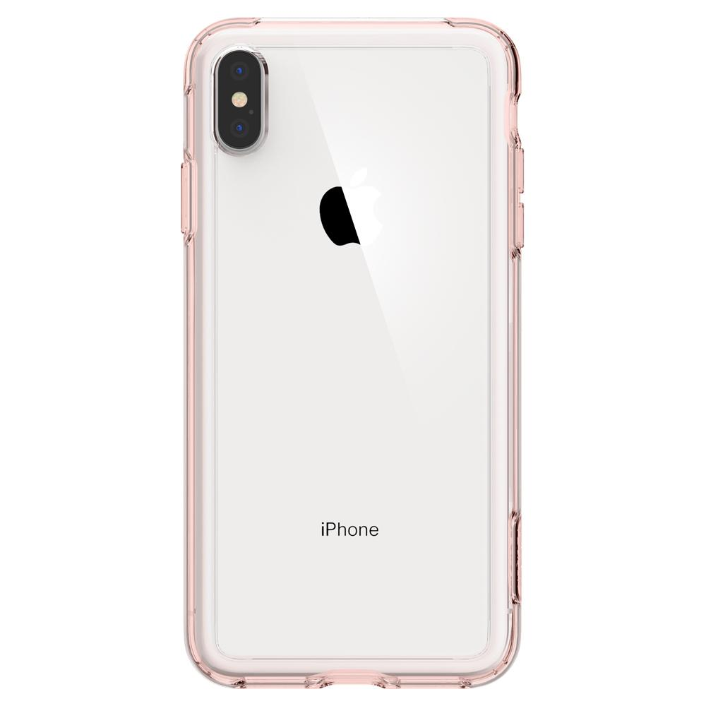 Slim Armor Crystal	Rose Crystal	Case	facing backwards showing the back design with the camera cutout on the	iPhone XS Max	device.