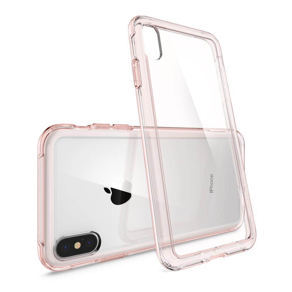 Slim Armor Crystal	Rose Crystal	Case	back design and a back view of the	iPhone XS Max	device.