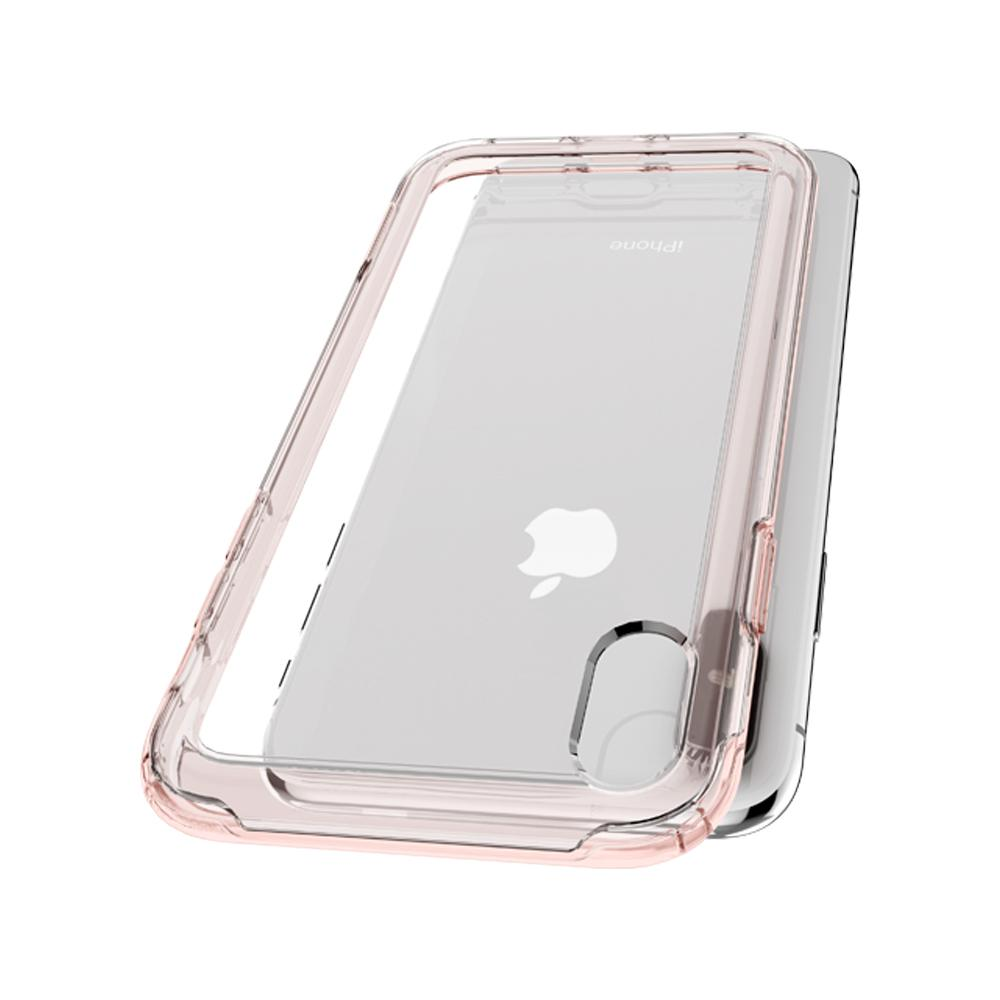 Slim Armor Crystal Dark Crystal	Case	back design and a back view of the	iPhone XS Max	device.