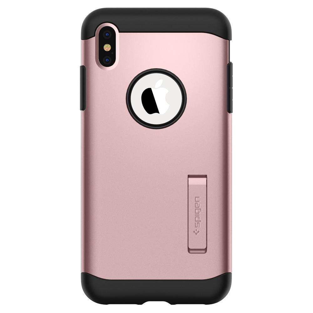 Slim Armor	Rose Gold Case	facing backwards showing the back design with the camera cutout on the	iPhone XS Max	device.