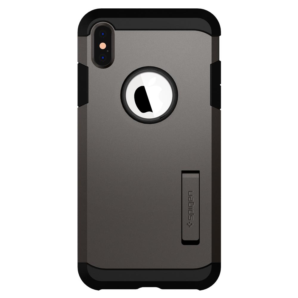Tough Armor (Ver.2)	Gunmetal	Case	facing backwards showing the back design with the camera cutout on the	iPhone XS Max	device.