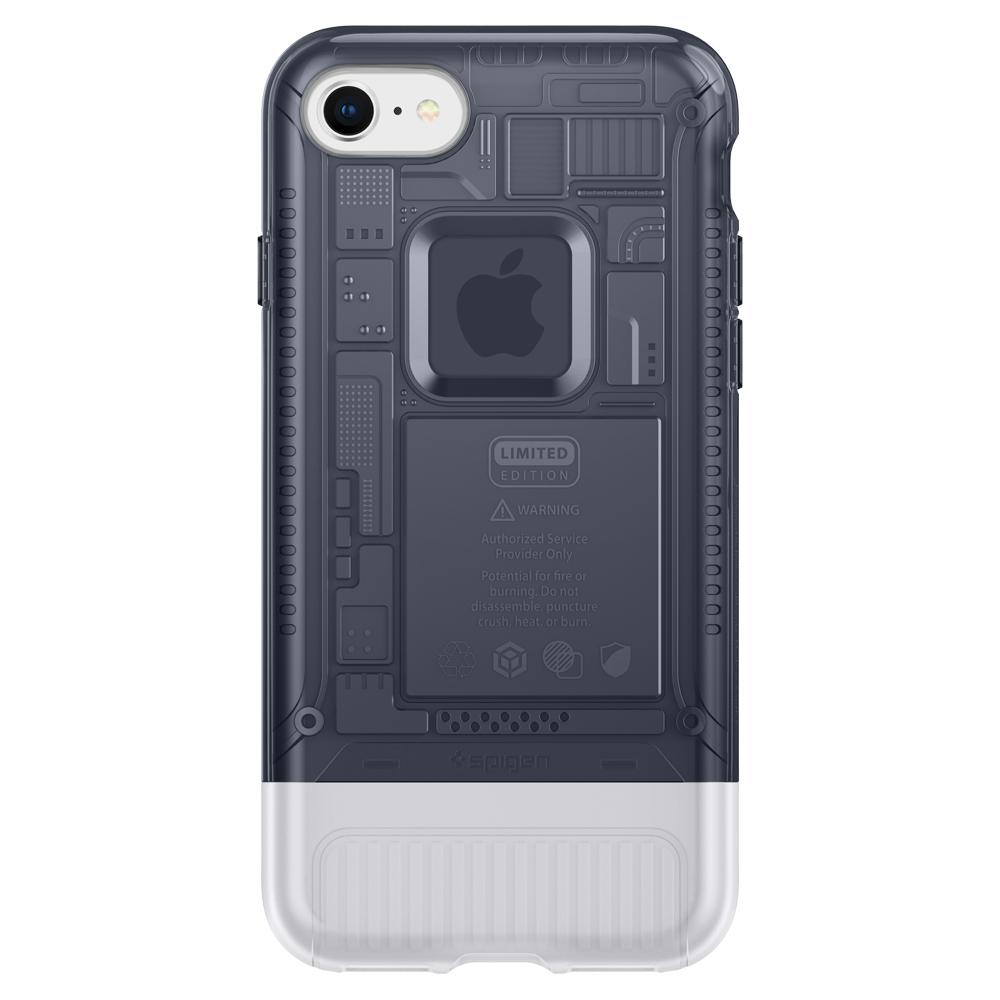 (Premium) Classic C1	Graphite	Case	facing backwards showing the back design with the camera cutout on the	iPhone 8	device.