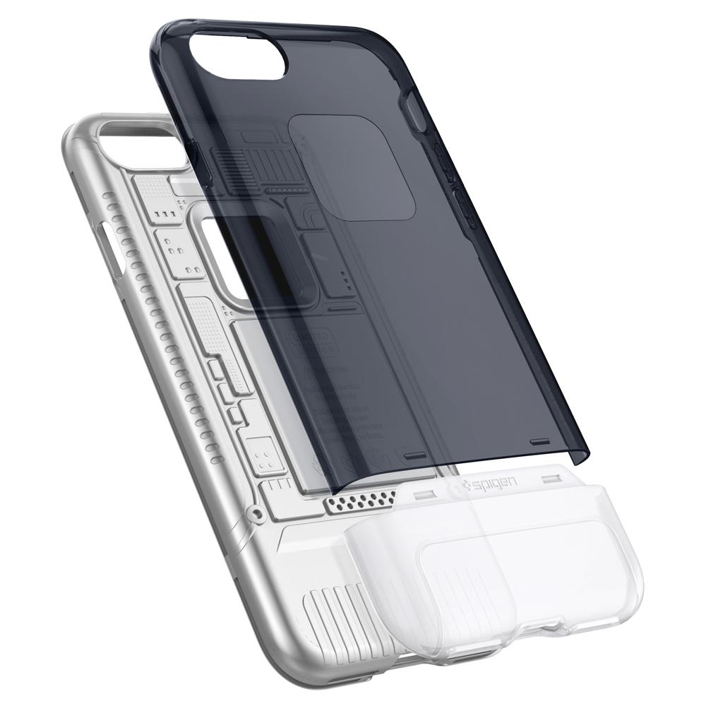 (Premium) Classic C1	Graphite	Case	separated showing the outer PC layer and the inner TPU layer