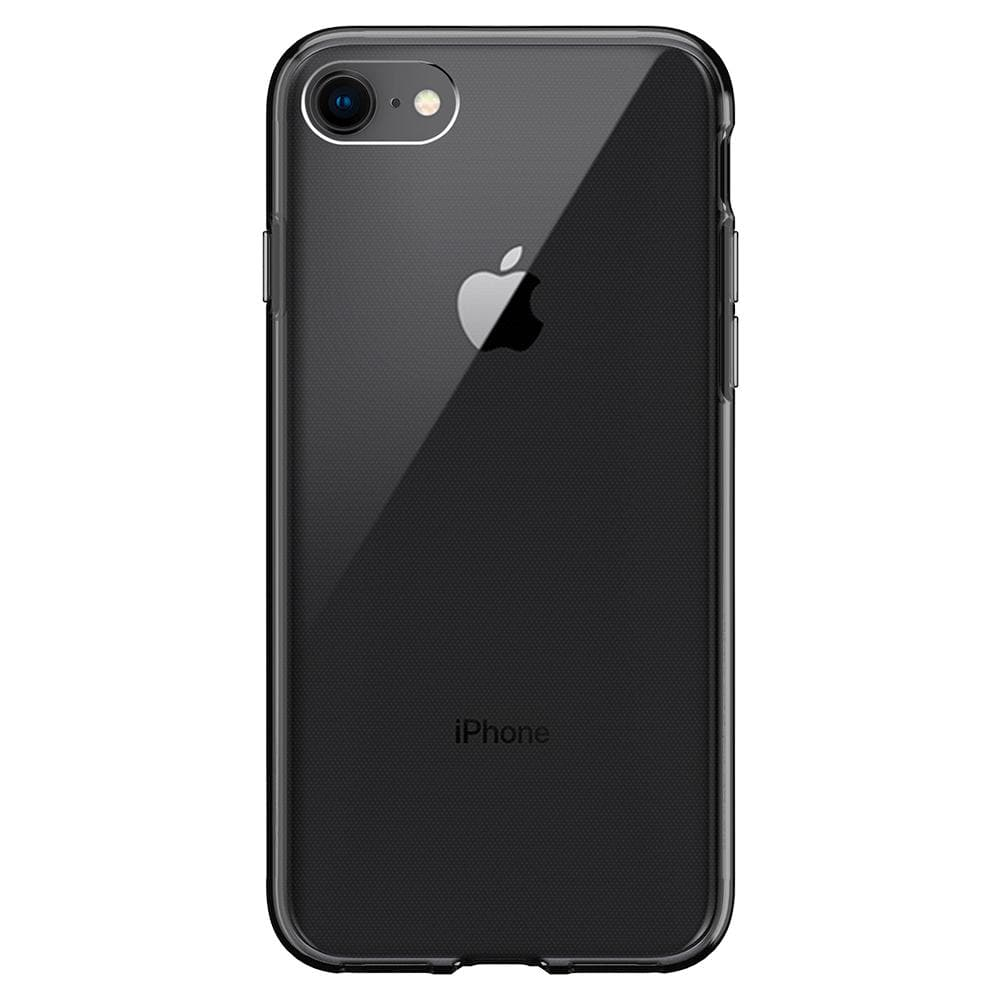 Liquid Crystal	Space Crystal	Case	facing backwards showing the back design with the camera cutout on the	iPhone 7	device.