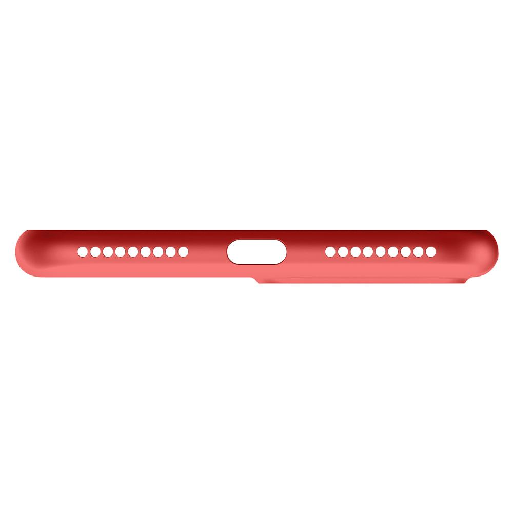 Air Skin	Red	Case	showing the bottom with precise cutouts.