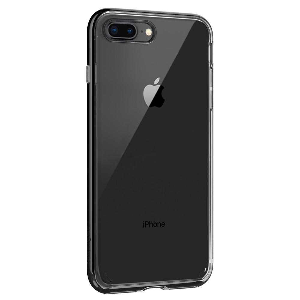 Neo Hybrid Crystal 2 (Ver.2)	Jet Black	Case	facing backwards showing the back design with the camera cutout on the	iPhone 8 Plus	device.