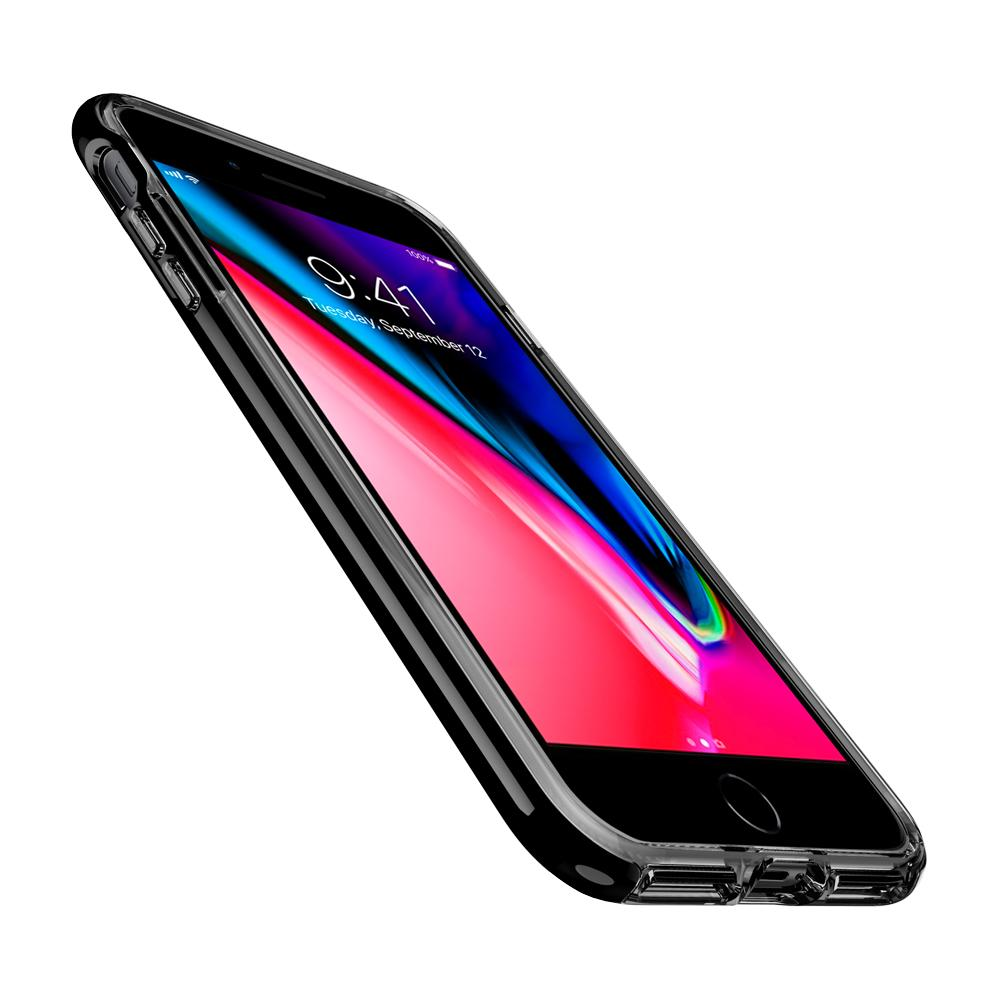 Neo Hybrid Crystal 2 (Ver.2)	Jet Black	Case	showing a front facing view of the edges around the	iPhone 8 Plus	device.