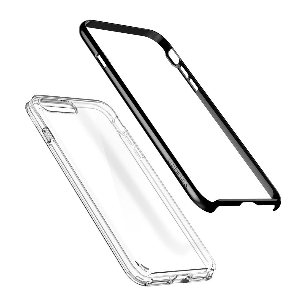 Neo Hybrid Crystal 2 (Ver.2)	Jet Black	Case	separated showing the outer PC layer and the inner TPU layer