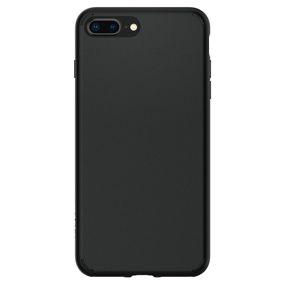 Liquid Crystal 2	Matte Black	Case	facing backwards showing the back design with the camera cutout on the	iPhone 8 Plus/7 Plus	device.