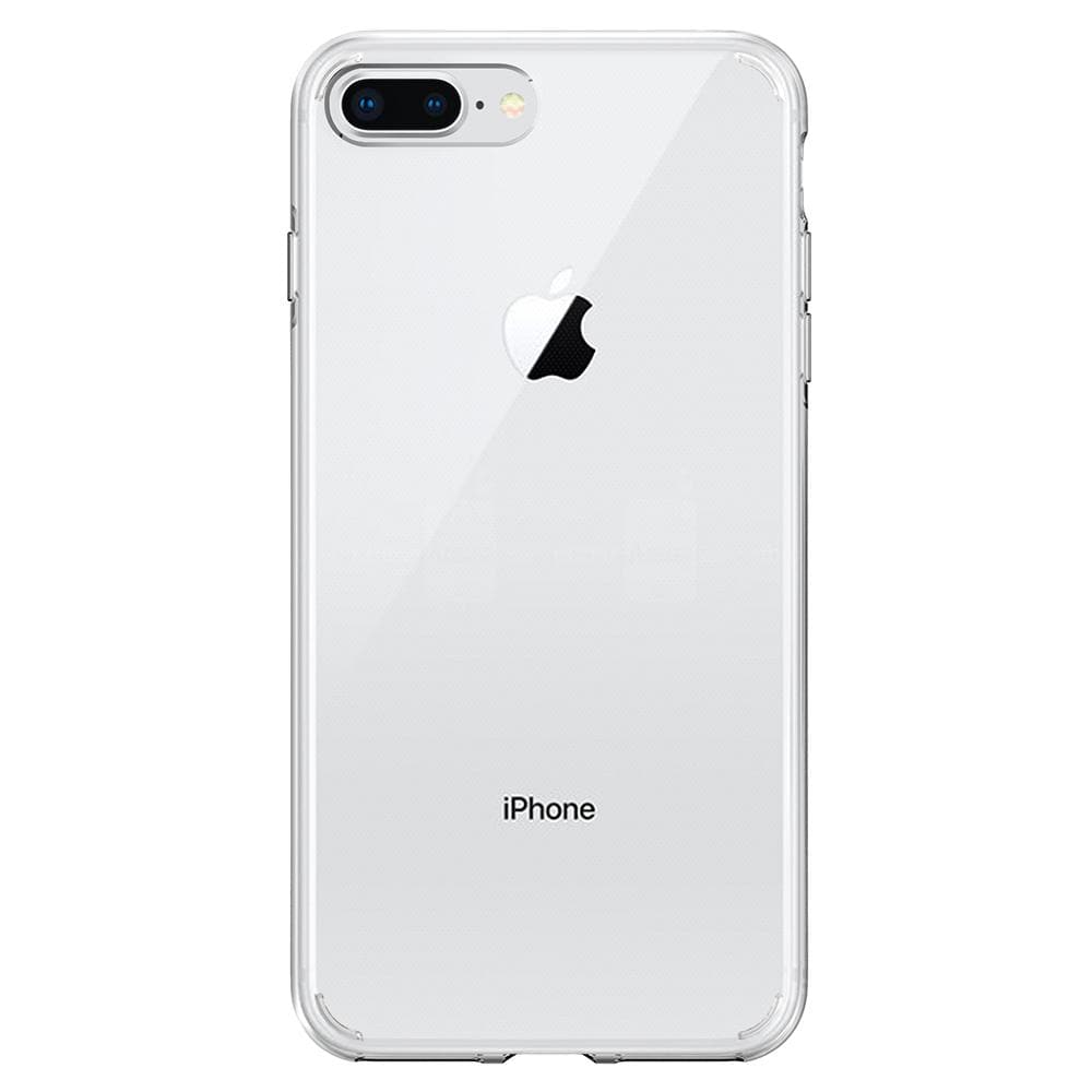 Liquid Crystal 2	Crystal Clear	Case	facing backwards showing the back design with the camera cutout on the	iPhone 8 Plus/7 Plus	device.