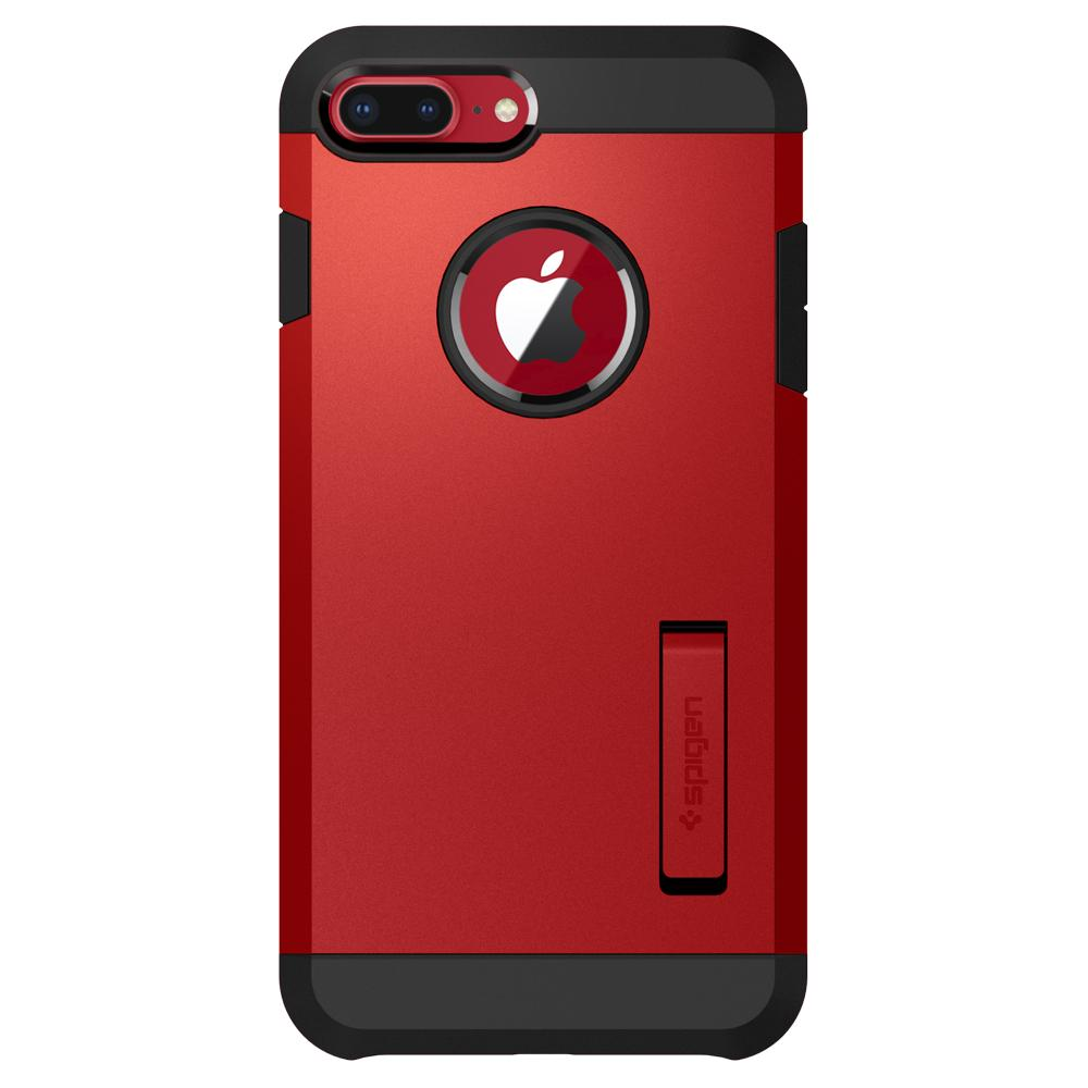 Tough Armor 2	Red	Case	facing backwards showing the back design with the camera cutout on the	iPhone 8 Plus/7 Plus	device.