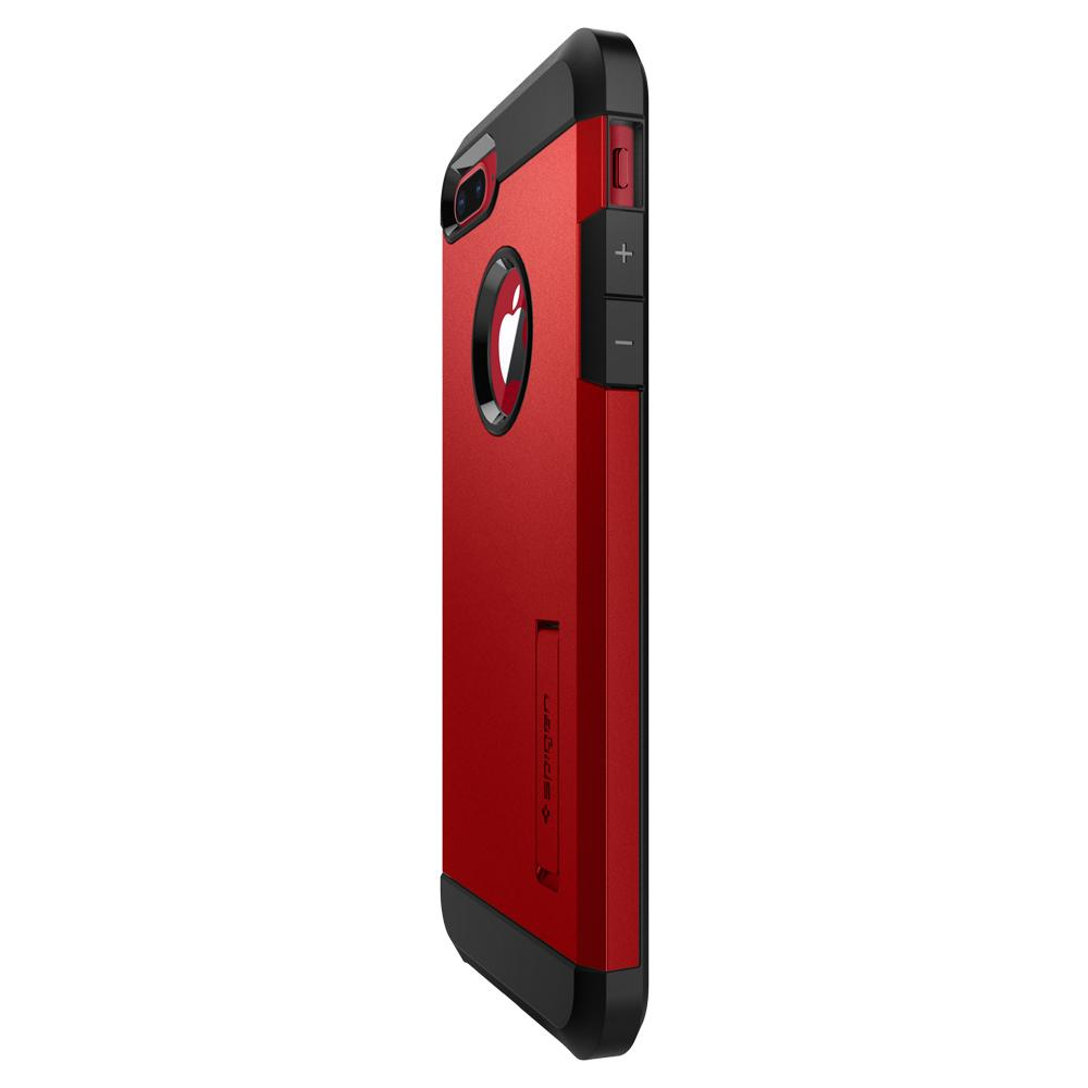Tough Armor 2	Red	Case	showing the back design on the	iPhone 8 Plus/7 Plus	device.