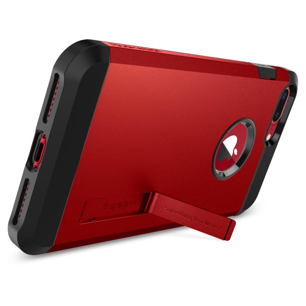 Tough Armor 2	Red	Case	angled backwards showing the back design focusing on the kickstand feature.	iPhone 8 Plus/7 Plus	device.
