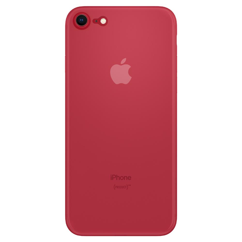 Air Skin	Red	Case	facing backwards showing the back design with the camera cutout on the	iPhone 8	device.