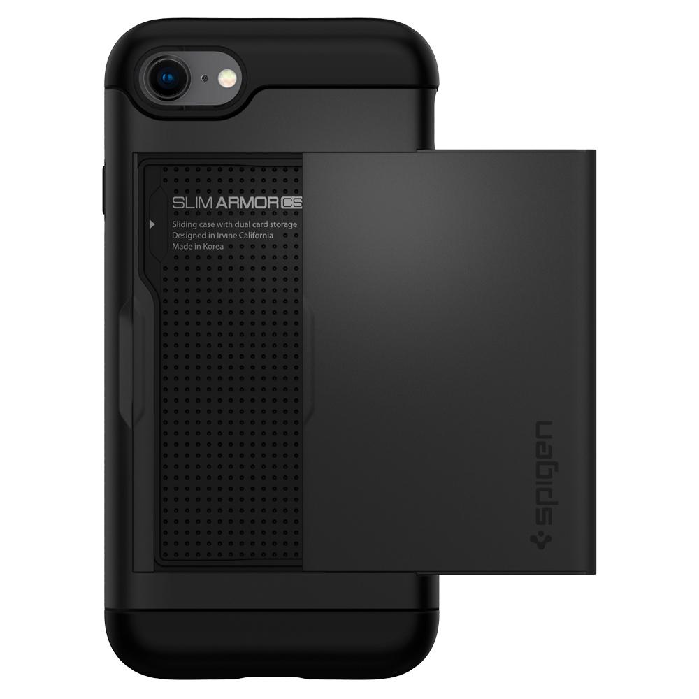 Slim Armor CS	Black	Case	facing backwards showing the back design with the camera cutout on the	iPhone 8	device.