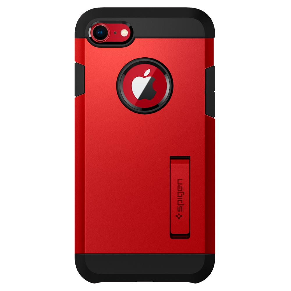 Tough Armor 2	Red	Case	facing backwards showing the back design with the camera cutout on the	iPhone 8/7	device.