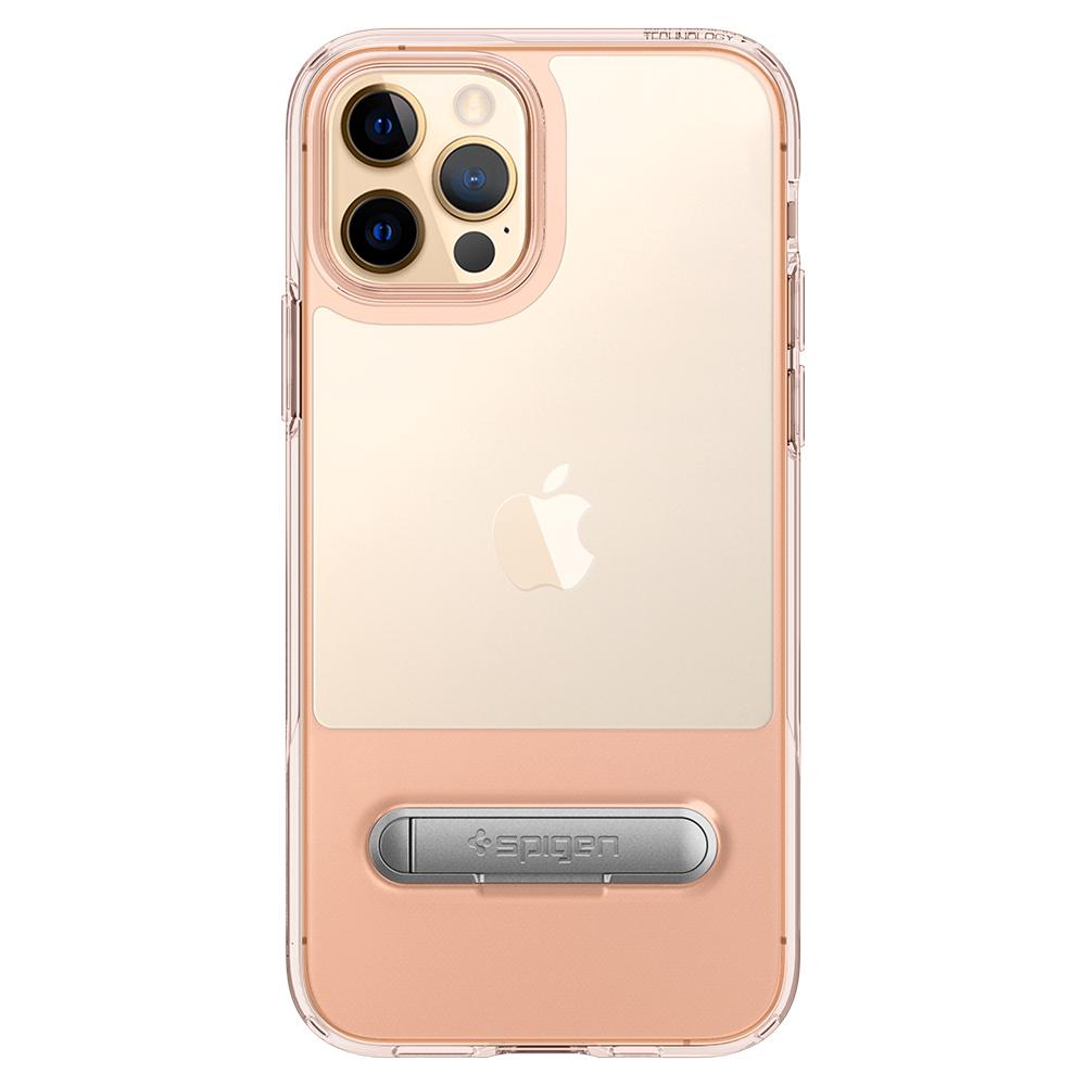 iPhone 12 / iPhone 12 Pro Case Slim Armor Essential S in rose crystal showing the back with device