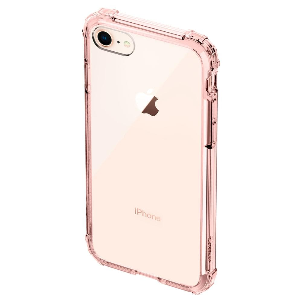Crystal Shell	Rose Crystal	Case	facing backwards showing the back design with the camera cutout on the	iPhone 8	device.