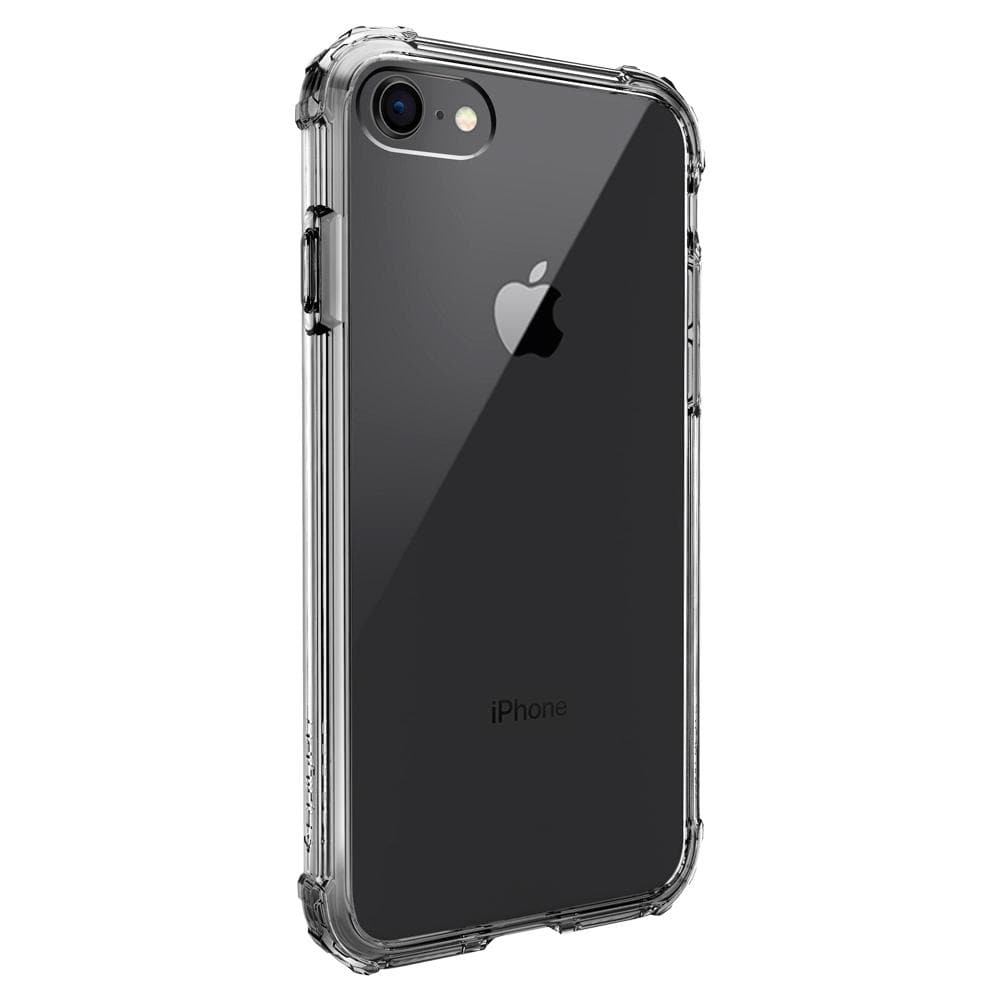 Crystal Shell	Dark Crystal	Case	facing backwards showing the back design with the camera cutout on the	iPhone 8	device.