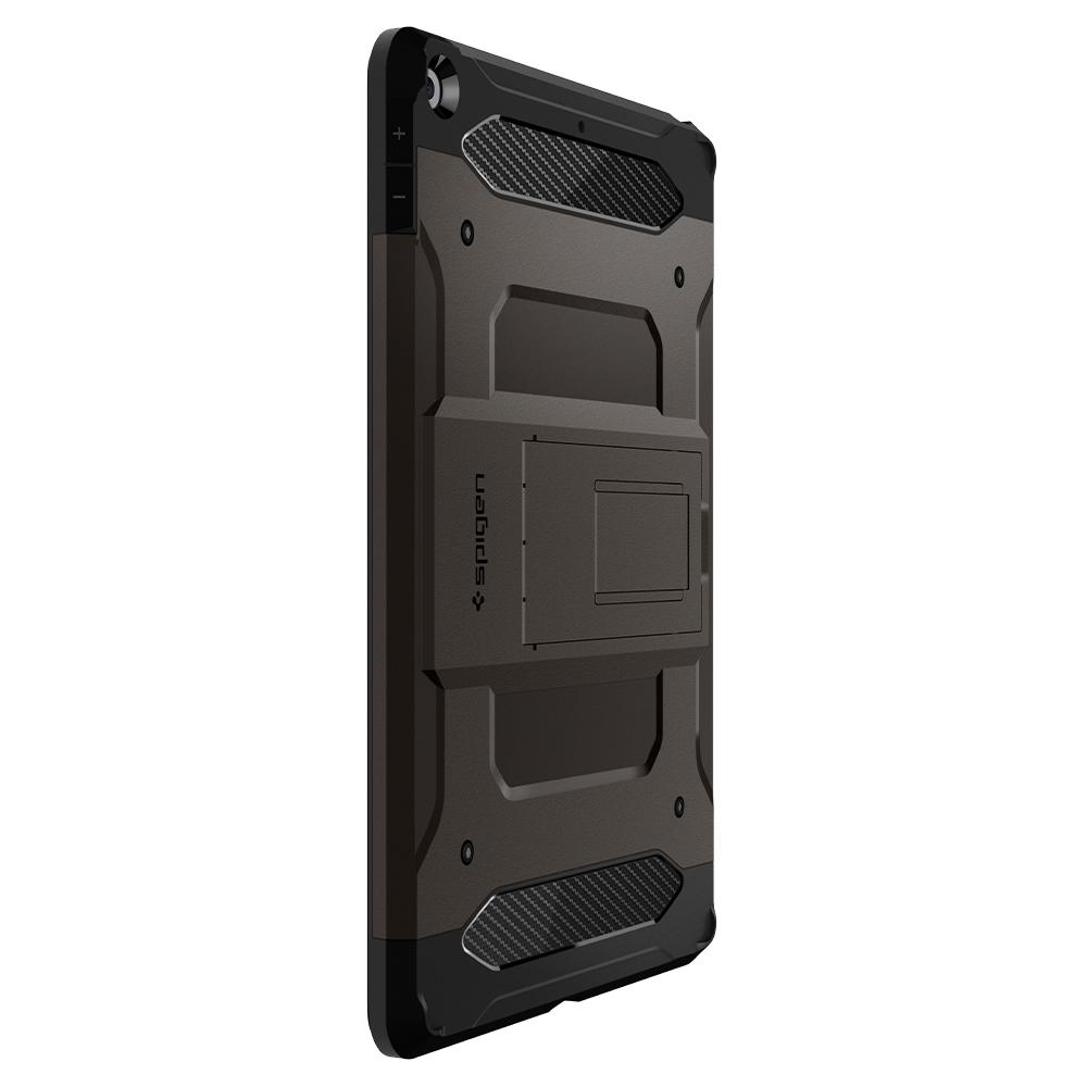 Tough Armor Tech	Gunmetal	Case	facing backwards showing the back design with the camera cutout on the	iPad10.2
