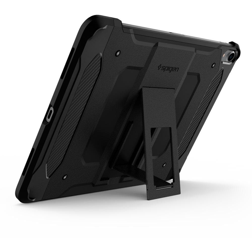 Tough Armor TECH	Black	Case	angled backwards showing the back design focusing on the kickstand feature on the	iPad Pro 11