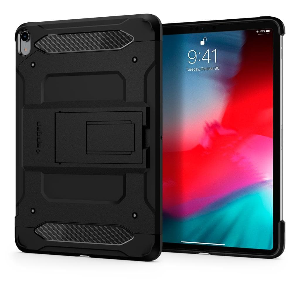 Smart Fold	Black	Case	back design and a front view of the edge around the	iPad Pro 12.9