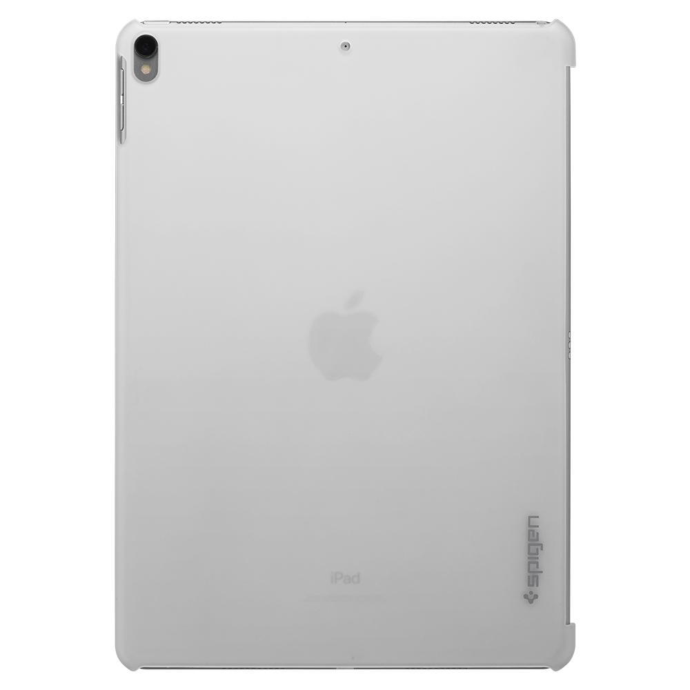 Thin Fit	Soft Clear	Case	facing backwards showing the back design with the camera cutout on the	iPad Pro 10.5