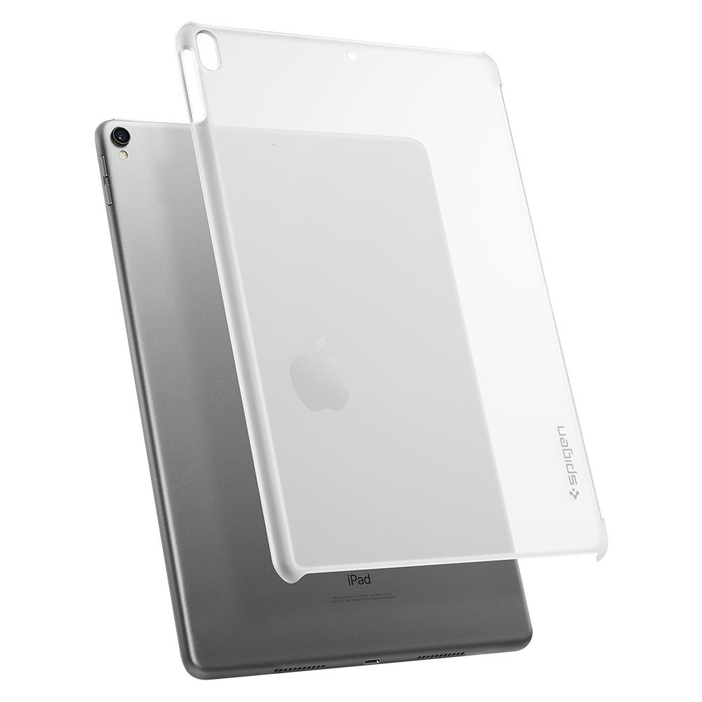 Thin Fit	Soft Clear	Case	back design and a back view of the	iPad Pro 10.5