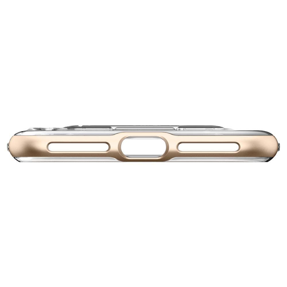 Crystal Hybrid	Champagne Gold	Case	showing the bottom with precise cutouts.
