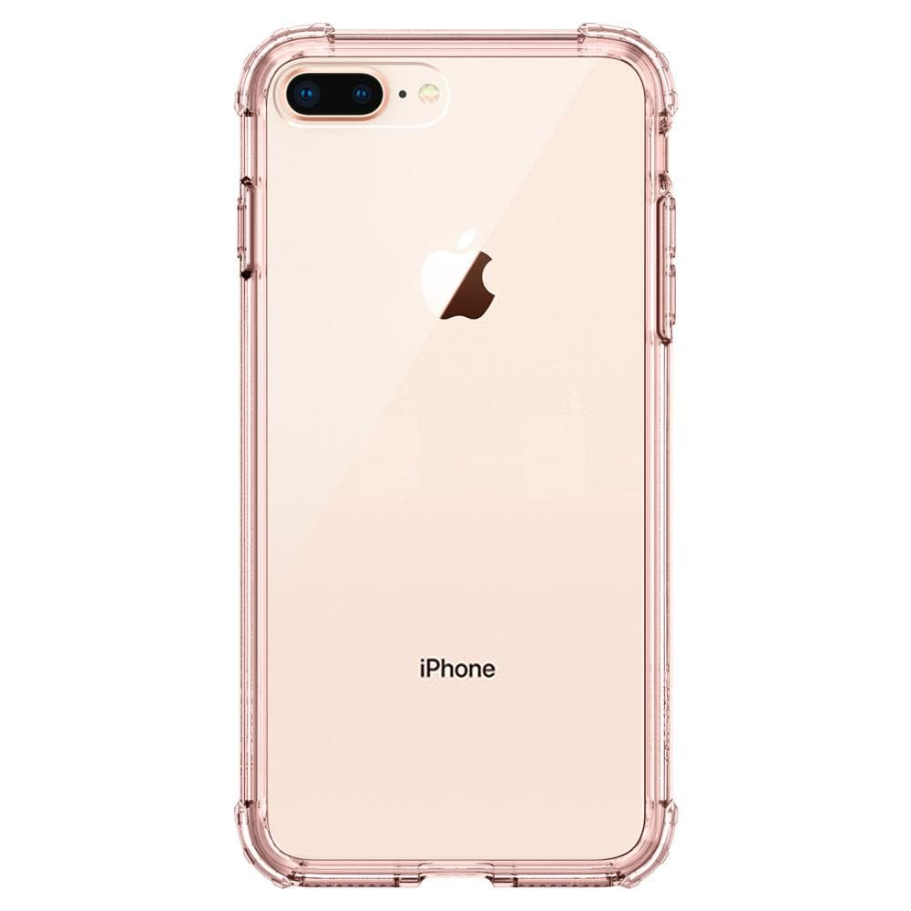Crystal Shell	Rose Crystal	Case	facing backwards showing the back design with the camera cutout on the	iPhone 8 Plus	device.