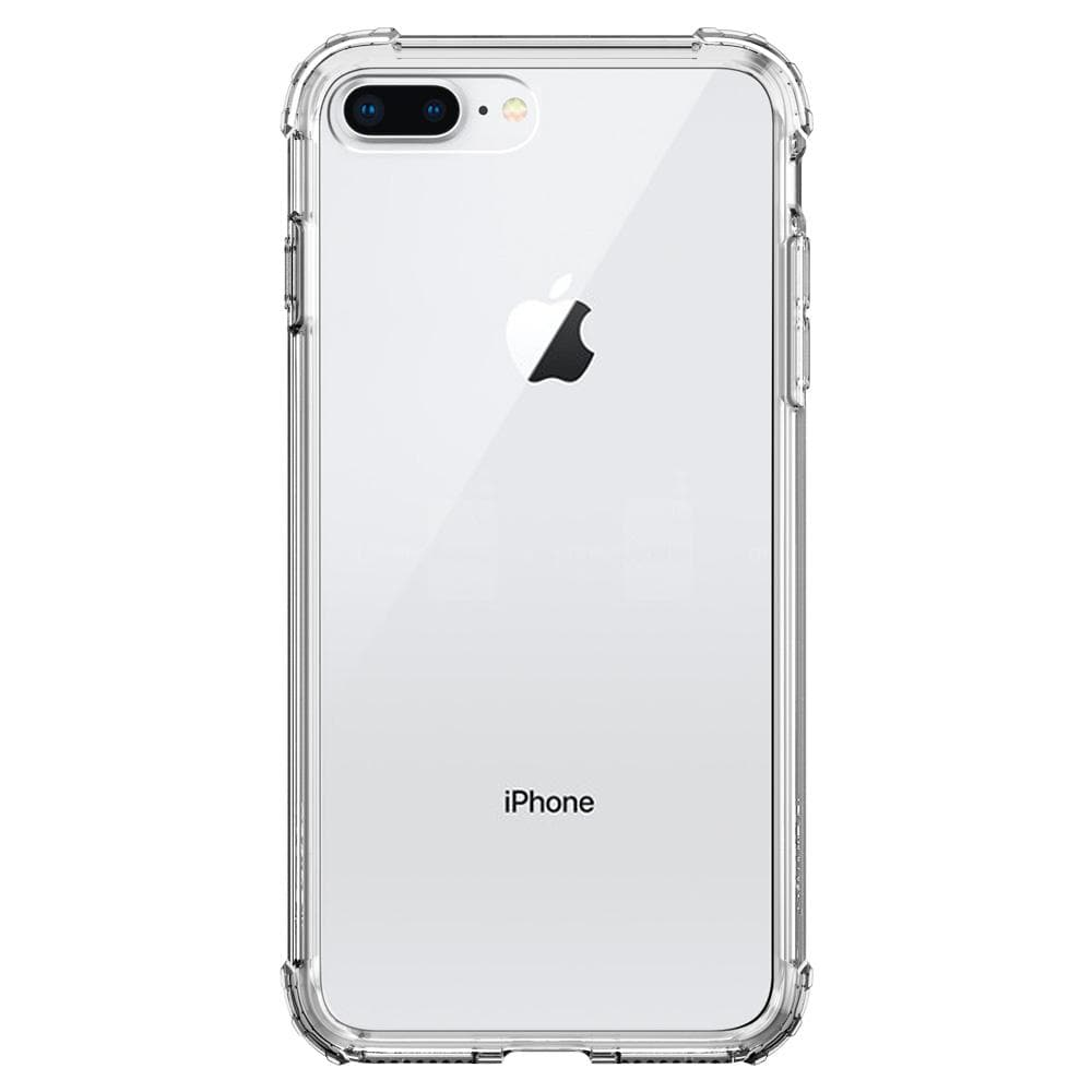 Crystal Shell	Clear Crystal	Case	facing backwards showing the back design with the camera cutout on the	iPhone 8 Plus	device.