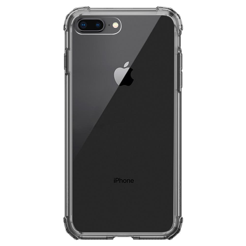 Crystal Shell	Dark Crystal	Case	facing backwards showing the back design with the camera cutout on the	iPhone 8 Plus	device.