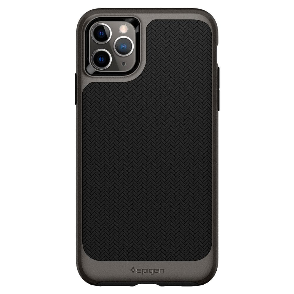 Neo Hybrid	Case	Gunmetal	facing backwards showing the back design with the camera cutout on the	iPhone 11 PRO MAX	device.