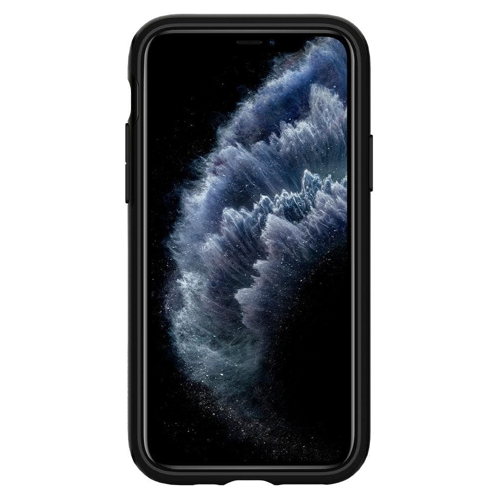 Neo Hybrid	Case	Jet Black	showing a front facing view of the edges around the	iPhone 11 PRO	device.