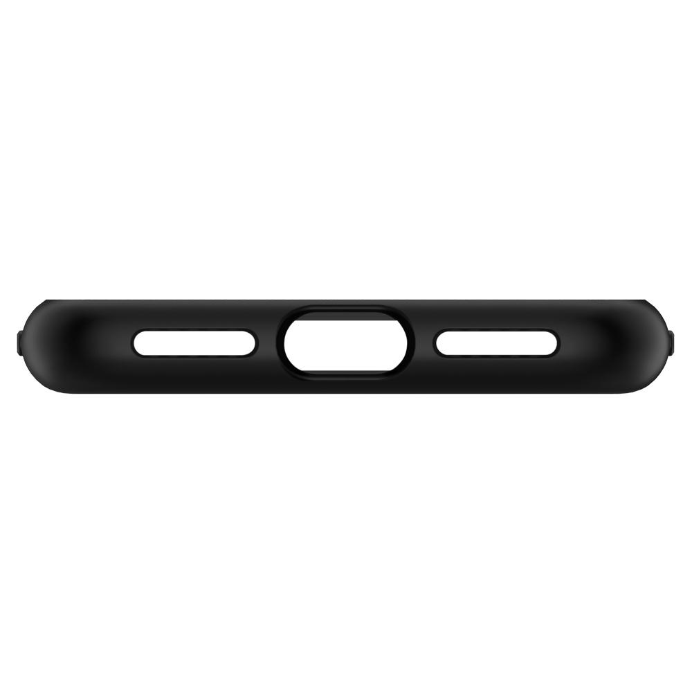 Liquid Crystal	Matte Black	Case	showing the bottom with precise cutouts.