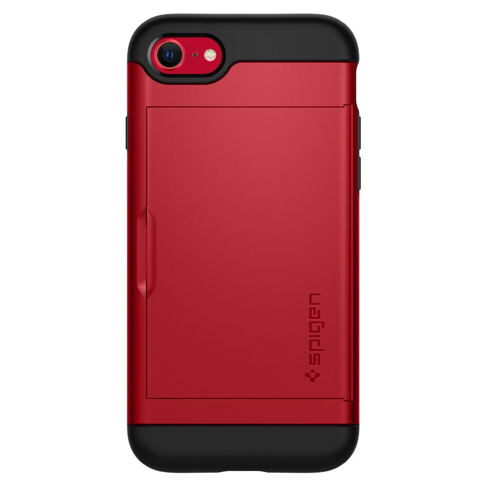 iPhone SE (2020) Case Slim Armor CS in red showing the back
