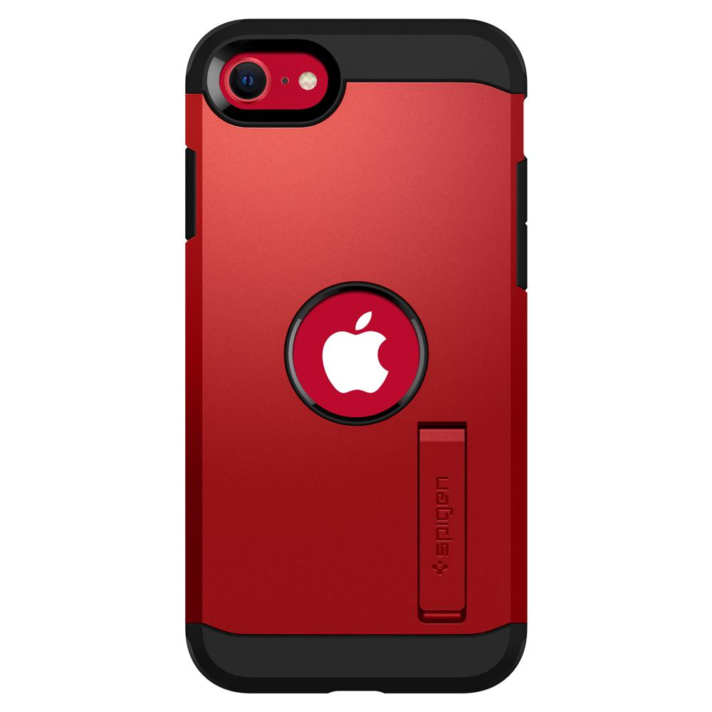 iPhone SE (2020) Case Tough Armor in red showing the back