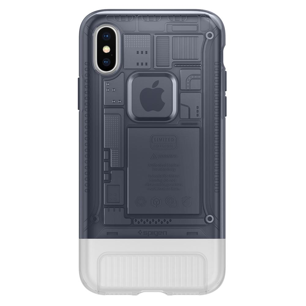 (Premium) Classic C1	Graphite	Case	facing backwards showing the back design with the camera cutout on the	iPhone X	device.