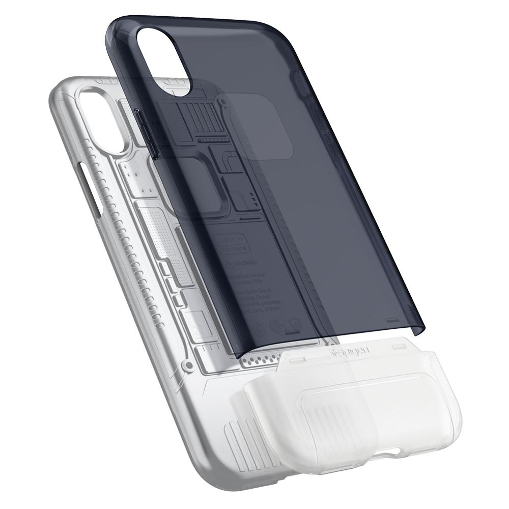 (Premium) Classic C1	Graphite	Case	back design and a back view of the	iPhone X	device.