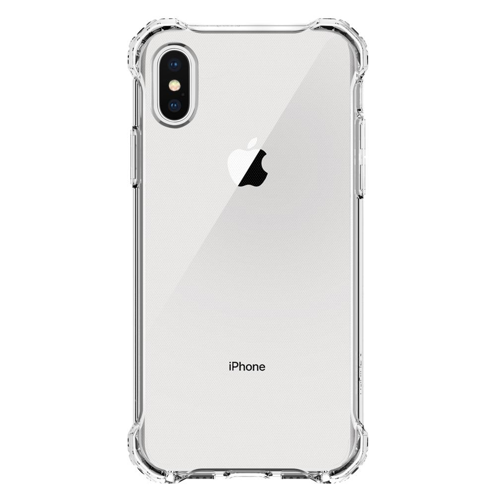 Rugged Crystal	Crystal Clear	Case	facing backwards showing the back design with the camera cutout on the	iPhone XS/X	device.