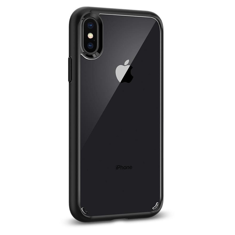 Ultra Hybrid	Matte Black	Case	facing backwards showing the back design with the camera cutout on the	iPhone X	device.