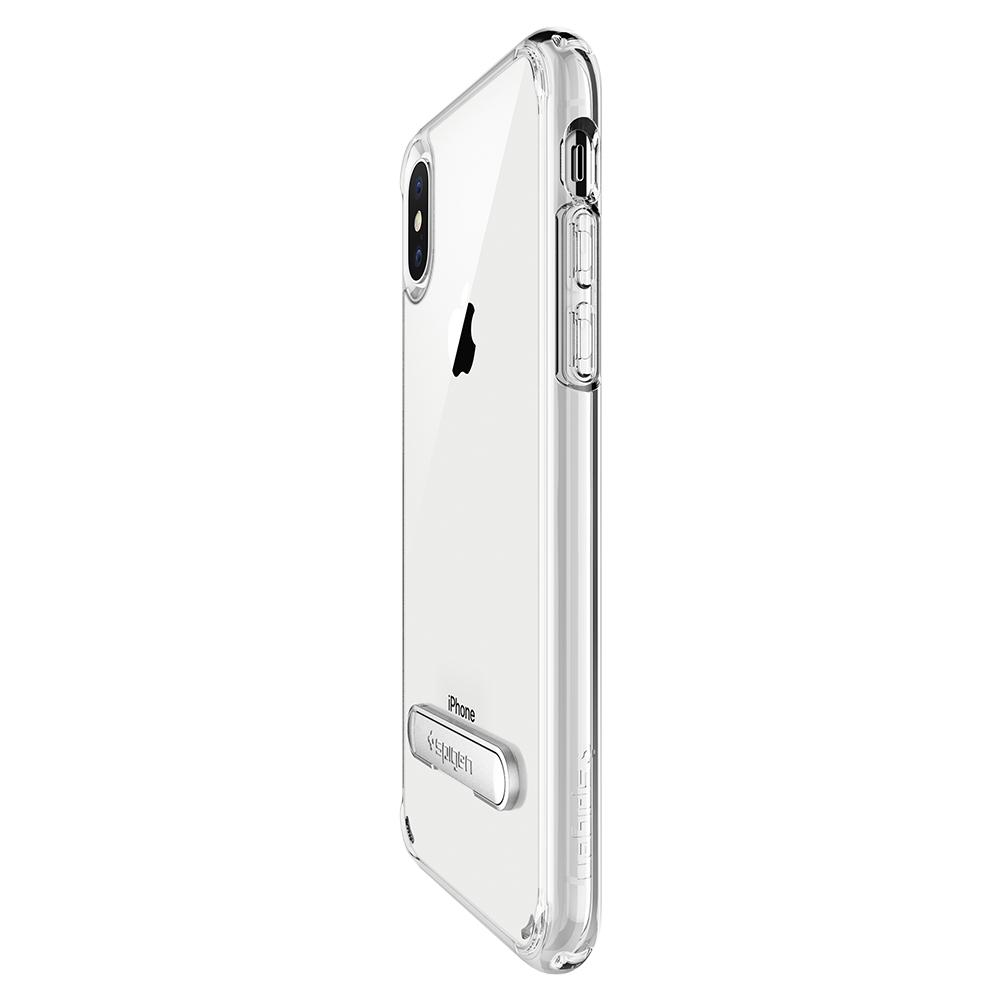 Ultra Hybrid S	Crystal Clear	Case	showing the back design on the	iPhone XS/X	device.